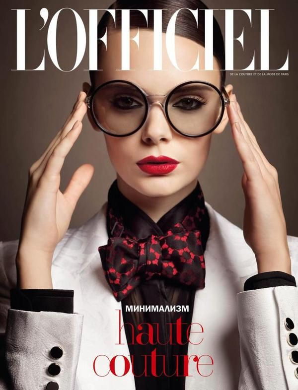 L'Officiel Ukraine cover with Nikole Ivanova - April 2013