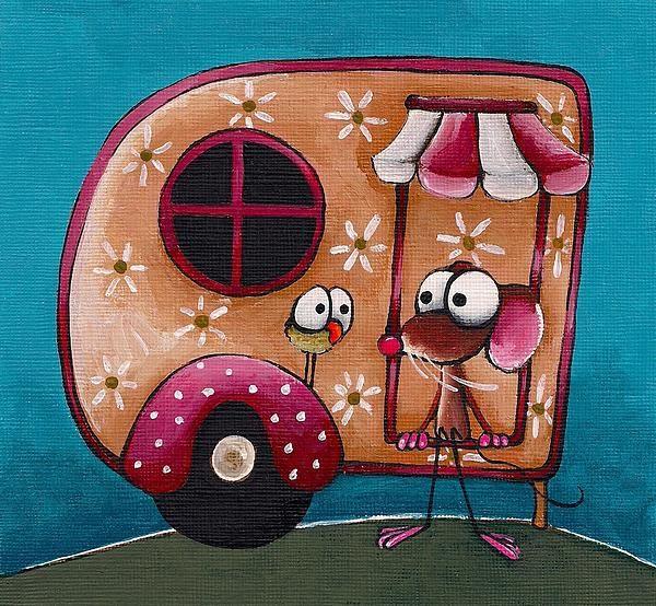 The Camper Van, by Lucia Stewart