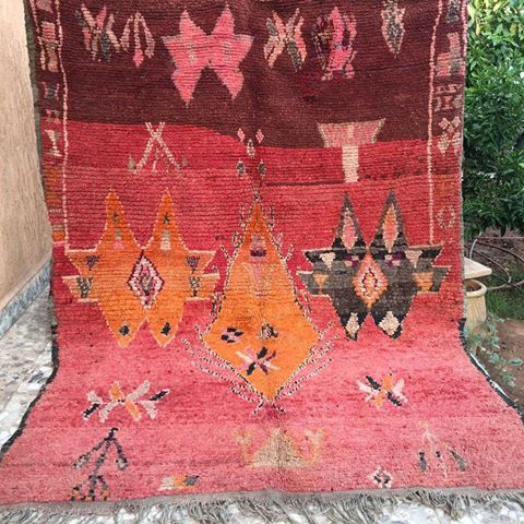 Sold Flash Vintage Moroccan Boujaad Rug Price 640 Usd Or 499 Gbp