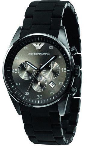 Emporio Armani Tazio Sportivo Black Rubber Watch AR5889 Campbell Jewellers Dublin Ireland