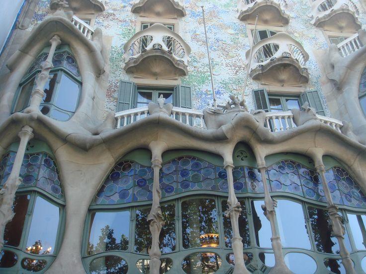 Gaudi's famous architecture, La Pedrera