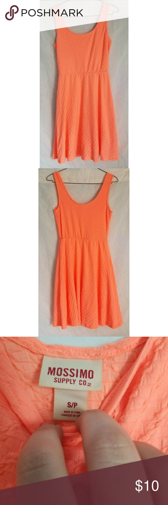Mossimo Neon Orange Mini Dress Super soft mini dress. It is like a highlighter orange color. Size small petite Mossimo Supply Co. Dresses Mini
