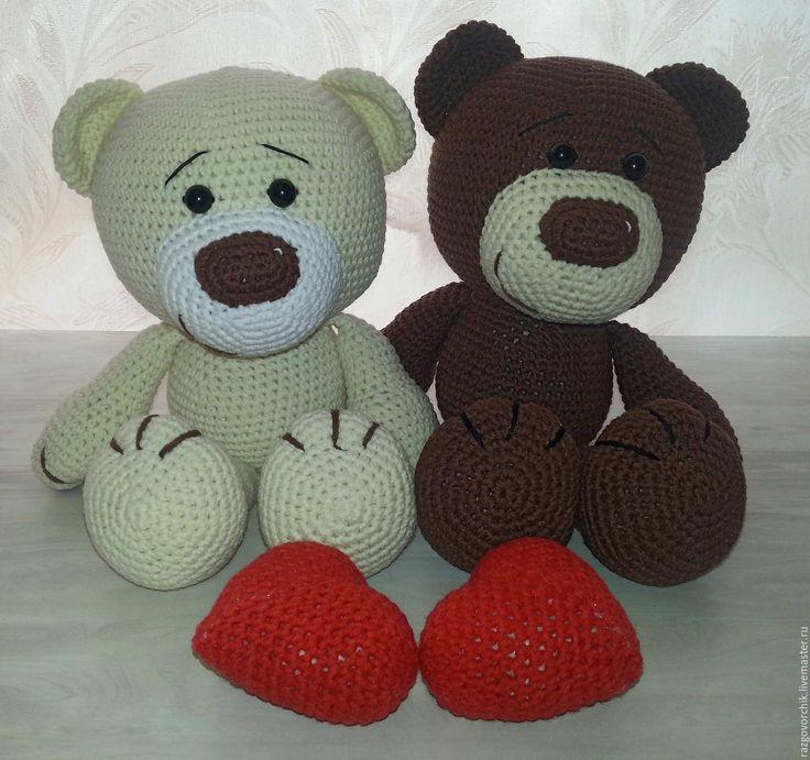 Купить Влюблённые медвежата - комбинированный, мишка, медвеженок, медведи, медвежата, мишки, вязаные медведи