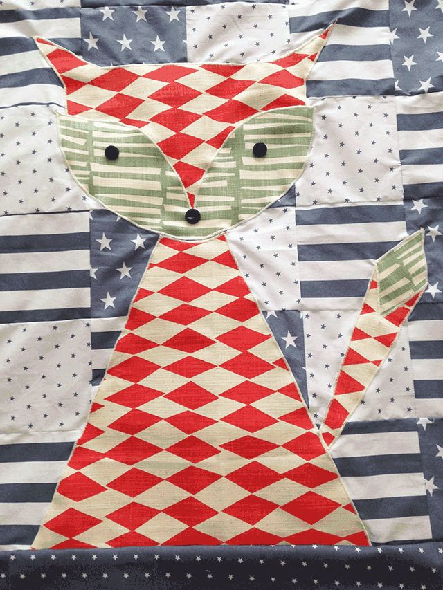 Fox Baby Quilt - Sew Long - Quilts, Graphic Design & Celebrations