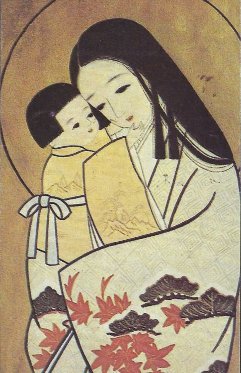 A Japanese Madonna and Child.