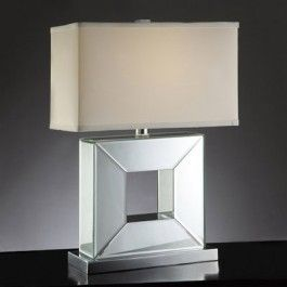 Crestview Collection CVABS427 Mirrored Table Lamp