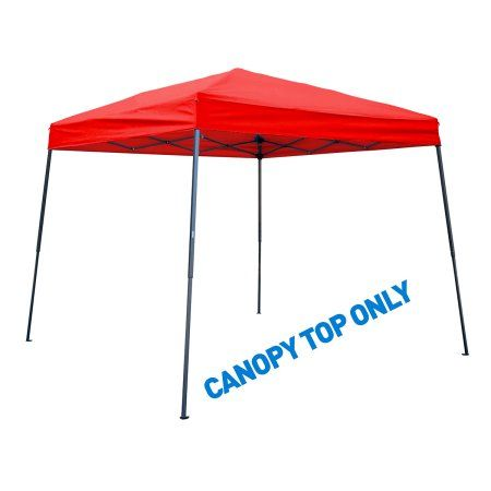 Square Replacement Canopy Gazebo Top for 10' Slant Leg Canopy - 8' x 8' - By Trademark Innovations (Red)