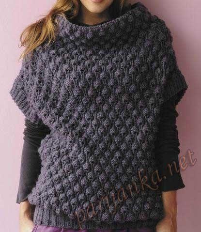 длинный пуловер платье спицами - Поиск в Google