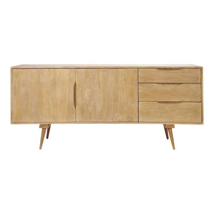 Mango wood vintage long sideboard W 167cm
