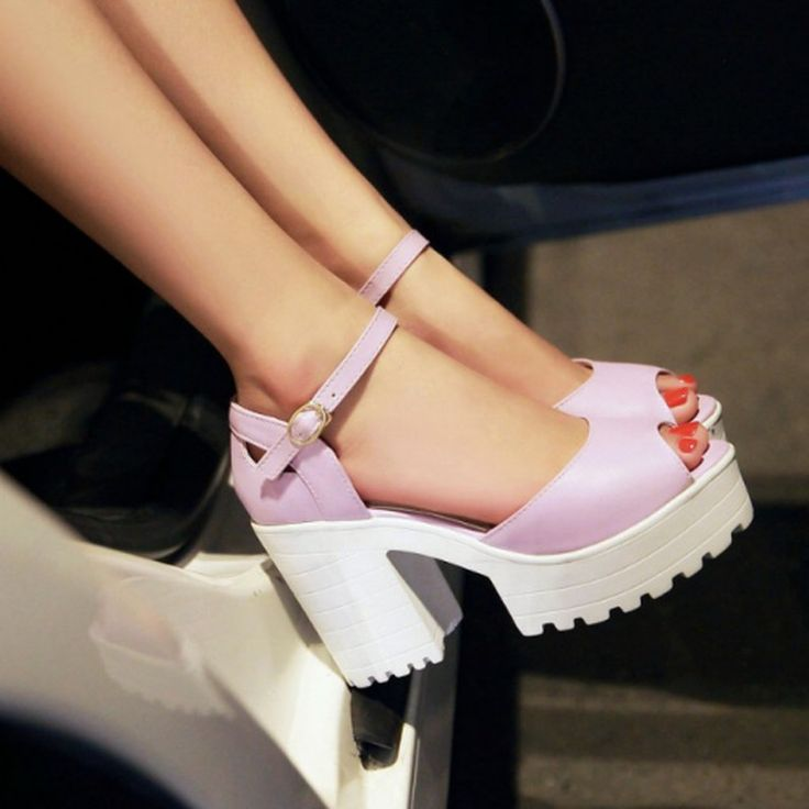 Drop Shipping Thick High Heels Platform Summer Dress Shoes For Women Sexy Casual Peep Toe Sandal Hot Sale