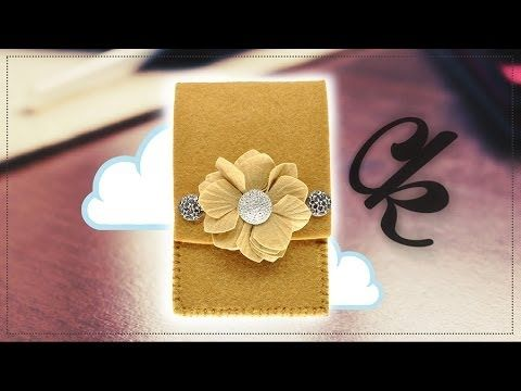 "Come fare ""Astuccio occhiali in feltro (Mod. Bottone)"" Tutorial Creative kit - YouTube"