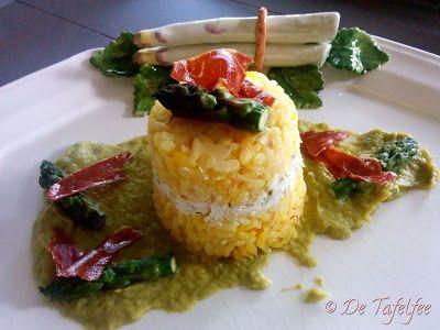 De Tafelfee: Gâteaux de riz salé au safran, coeur de ricotta et...