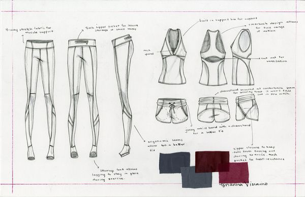 Activewear by Brianna Vizcaino, via Behance