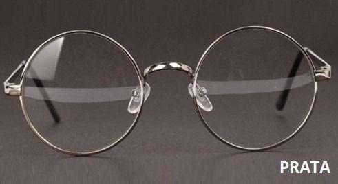 armação óculos de grau - redondo ozzy beatles lennon redonda