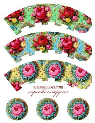 FREE printable ♥ cupcake wrappers & toppers