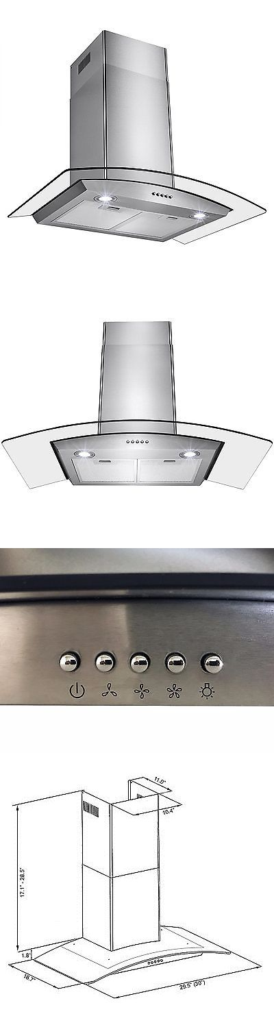 Range Hoods 71253: Oliver Smith Cooker Stove Hood Stainless Steel Glass 30 Inch Wall Mount Leds -> BUY IT NOW ONLY: $109.99 on eBay!