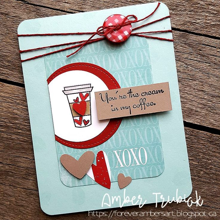 Handmade card by Amber Trubiak using the Love from Me Digital Set from Verve. #vervestamps