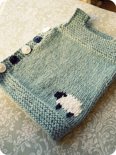Design: Pebble (Henry's Manly Cobblestone-Inspired Baby Vest) by Nikol Lohr. Knit here byTraceyNicole on ravelry. Love! Totally have to make something in this spirit.