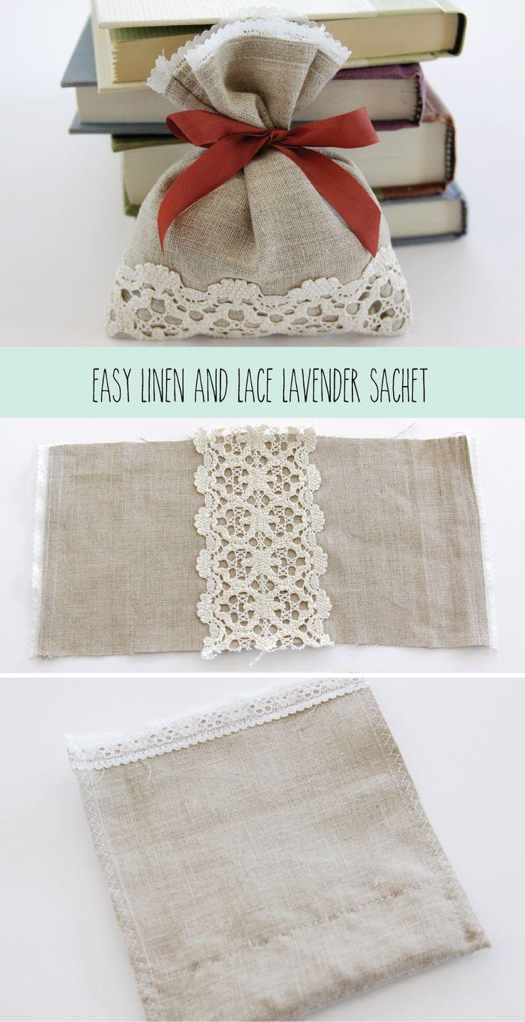 Easy Linen and Lace Lavender Sachet