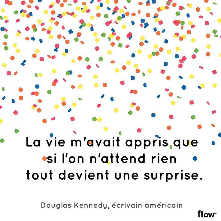 La vie m'avait appris que si l'on attend rien tout devient une surprise. - Douglas Kennedy