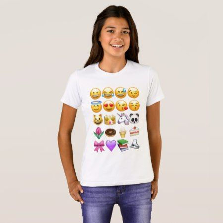 I love Girl Emojis T-Shirt - click/tap to personalize and buy