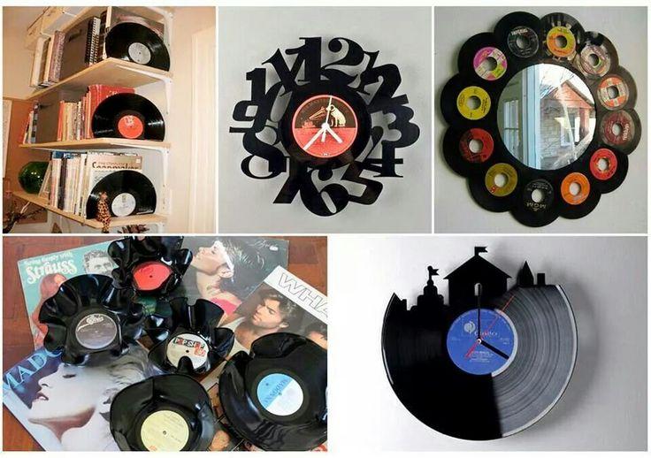74 mejores im genes sobre cd dvd vinilo cassette - Decoracion con discos de vinilo ...