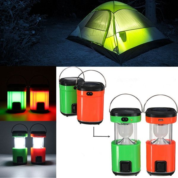 Solar Power Portable Rechargeable Led Torch Lantern Outdoor Camping Hiking Tent Lamp Camping Lights Outdoor Lanterns Solar Power Diy