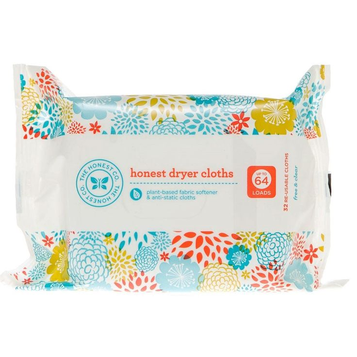 """The Honest Company Honest Dryer Cloths - Free and Clear - 32 Count Our innovative """"Wet"""" Dryer Cloths offer a premium clothes-drying experience over traditional dryer sheets.ÌâåÊOur dryer cloths infuse"""
