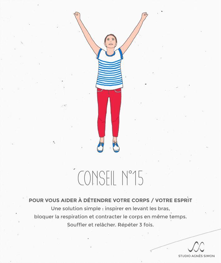 Les Conseils d'Agnès n°15 #détente #esprit #corps #respiration #conseil #studioagnessimon Retrouvez Agnès sur www.studioagnessimon.com