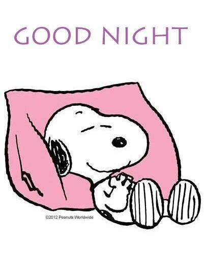 Good night ♡ See More #PEANUTS #SNOOPY pics at www.freecomputerdesktopwallpaper.com/peanuts.shtml