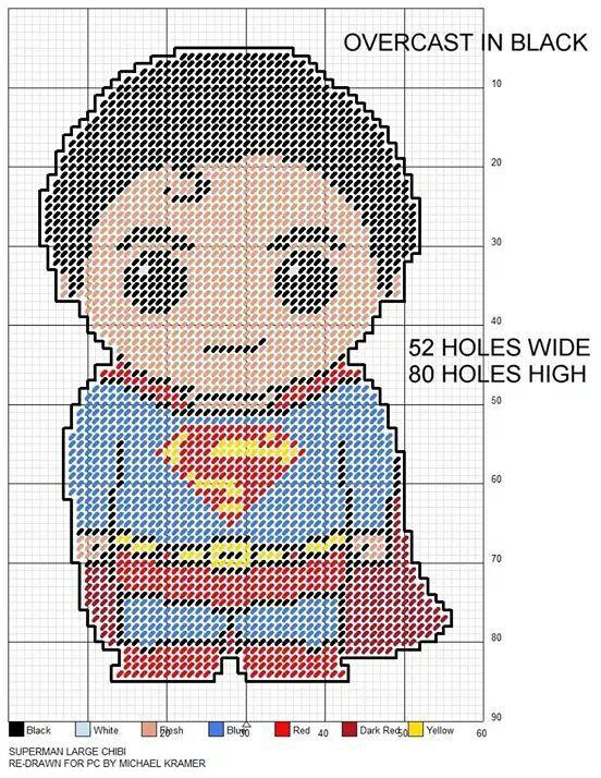 SUPERMAN LARGE CHIBI - RE DRAWN FOR PC by MICHAEL KRAMER