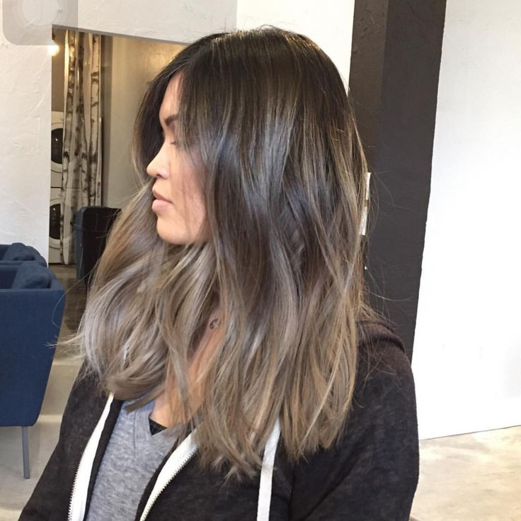 Ash brown with dark ash blonde