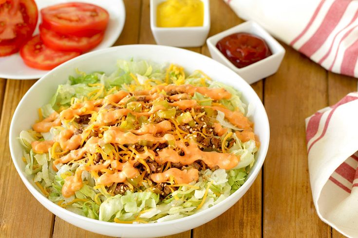Hungry Girl's Healthy Mac Attack Burger Bowl Recipe