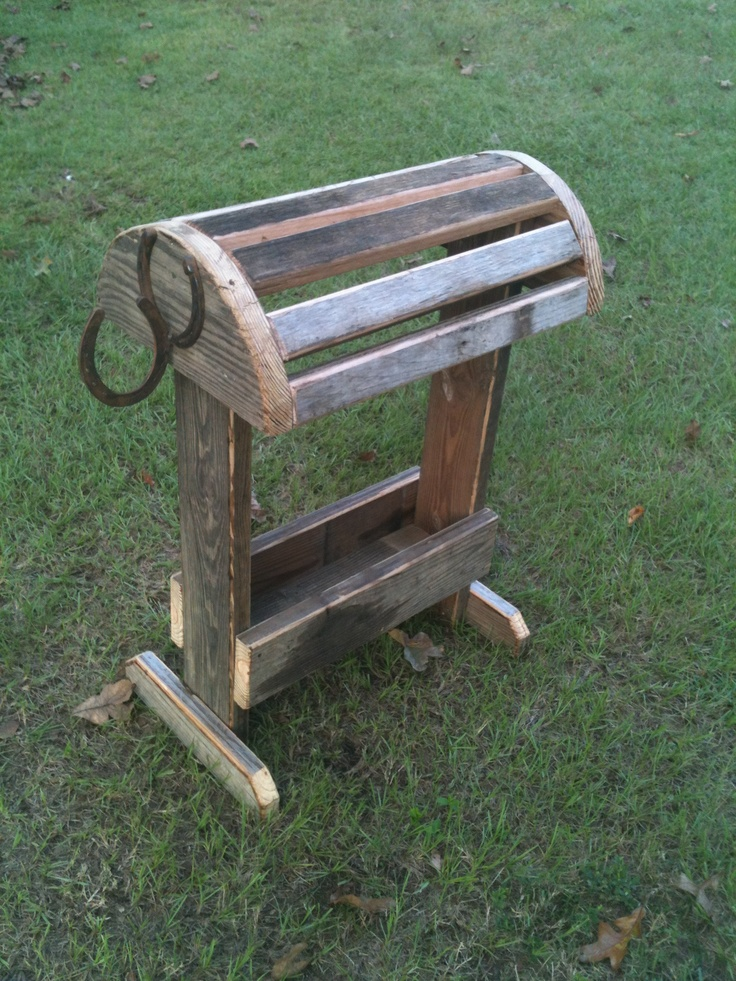 Saddle Stand Made From Recycled Wood Horses Saddle