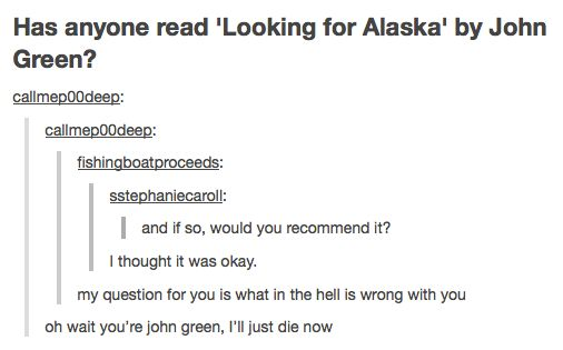 The adventures of Nerdfighters on tumblr, featuring unexpected counters with John Green.
