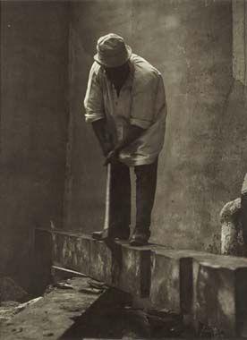 Constantin Brancusi Self-Portrait, c. 1924 vintage silver print 9 3/8 x 7 1/16 in.