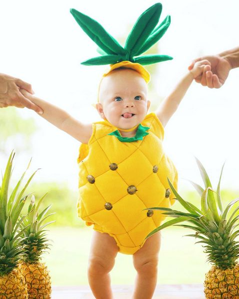 Like this pineapple that is the sweetest thing there ever was. | 23 Reasons Why Halloween Is The Best Holiday For People With Babies