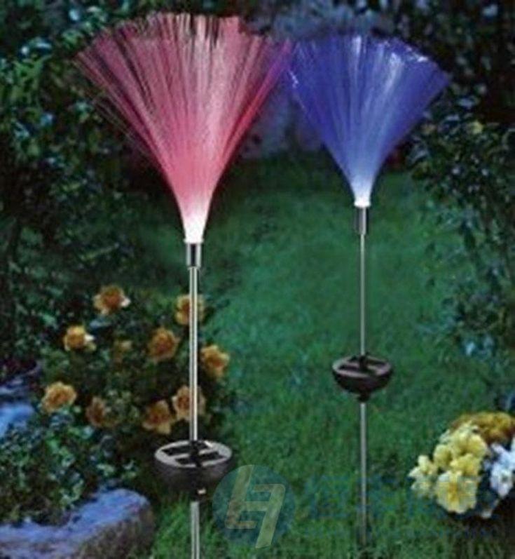 fiber optic solar yard lights.
