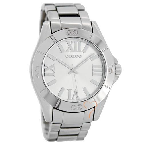 Ρολόι Oozoo Timepieces 40mm Silver Dial - Silver Bracelet