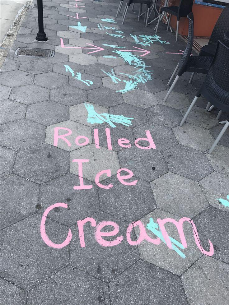 Rolled Ice Cream at Snobachi, Ybor City, Tampa, Florida. #Yborcity #Snobachi