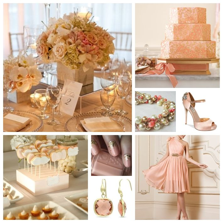 Jackie Fo Champagne Blush And Gold Wedding Inspiration: Peach And Gold Wedding Inspiration