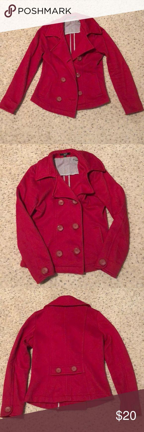 Red pea coat Red button down pea coat Jackets & Coats Pea Coats