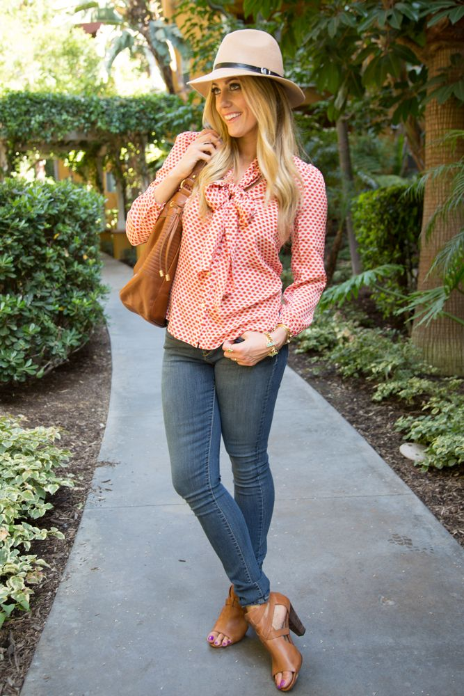 Devon Rachel styles her #DENIZENJeans with cute heels, a blouse and stylish hat. #Target