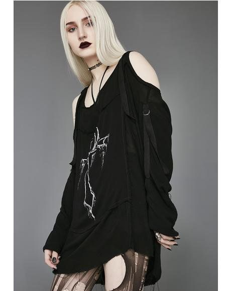 661d2a8c06e0 Eternal Life Gauze Tunic #dollskill #widow #houseofwidow #newarrivals #mercy  #black #gothgirl #drapes #flowy #punk #dresses