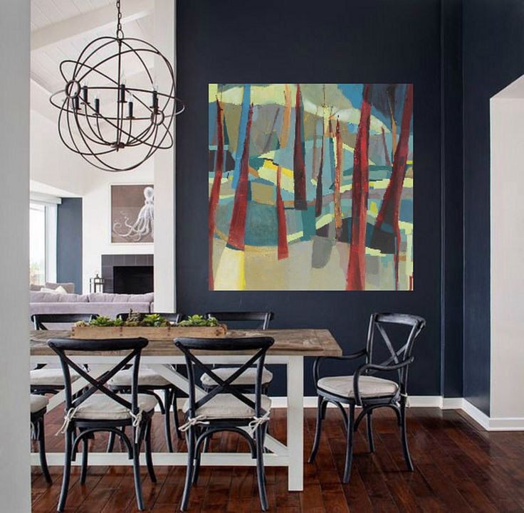 Abstract landscape painting | contemporary modern art by Danielle Nelisse | original and prints available for interior designers | large abstract oil painting on gallery wrapped canvas for living room | acquire at www.daniellenelisse.com | free shipping and 7 day return policy