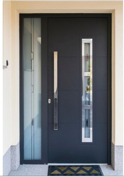 contemporary entrance door with side lite
