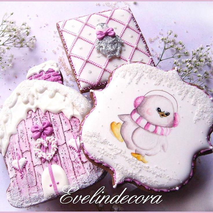 Christmas penguin cookies | Biscotti decorati con ghiaccia reale - Evelindecora Cookie