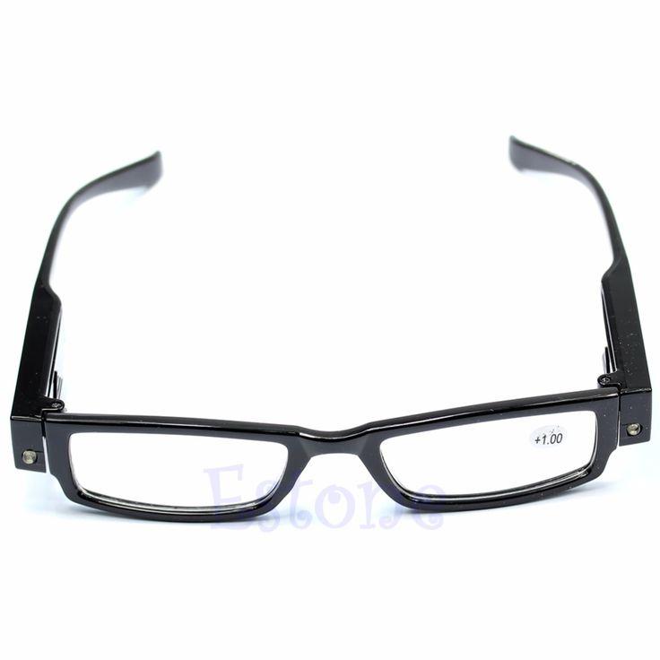 Heißer Verkauf Klassische Unisex Multi Stärke LED Lese Glas-brille Brillendioptrien Lupe Licht UP Eyewear Freies Verschiffen