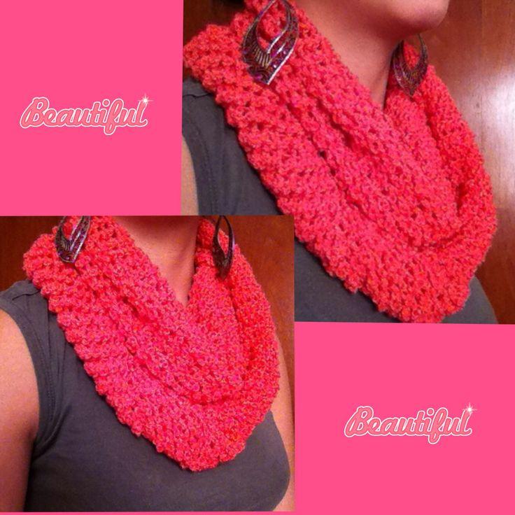 Bufanda infinita color Coral :)