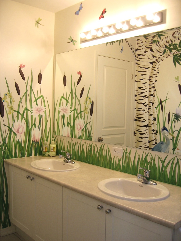 Bathroom mural by Charlotte Hamilton